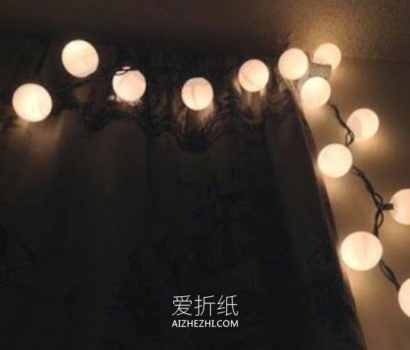 怎么用乒乓球做圣诞节灯饰的方法- www.aizhezhi.com