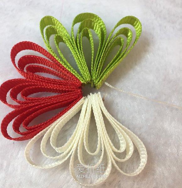 怎么用罗纹带做儿童雪花发夹的方法- www.aizhezhi.com
