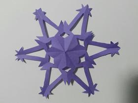 怎么剪纸六角雪花的折法和剪法图解