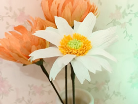 怎么做皱纹纸雏菊的详细图解教程