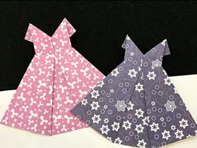 怎么折纸花裙子的折法图解
