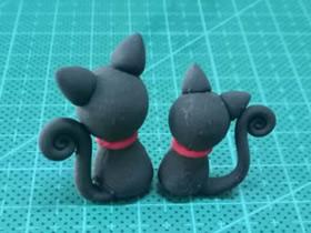 怎么简单做粘土小黑猫的方法图解