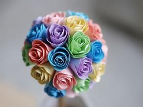 怎么用卡纸做玫瑰花球的方法教程