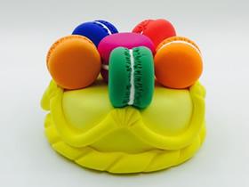 怎么用粘土做迷你马卡龙蛋糕的方法图解