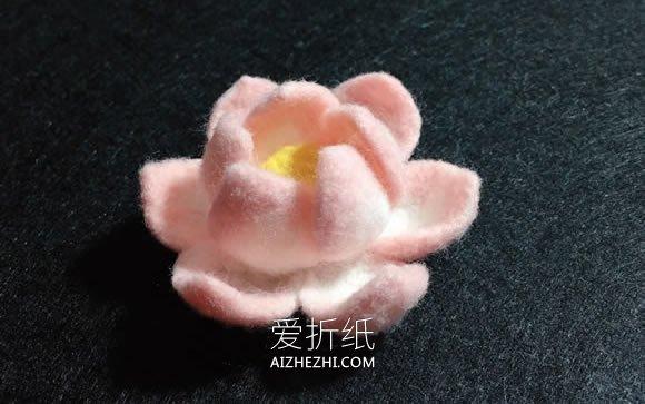 怎么做羊毛毡荷花的方法图解- www.aizhezhi.com