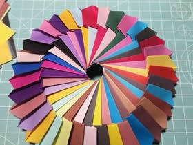 怎么简单折纸无限翻烟花的折法图解