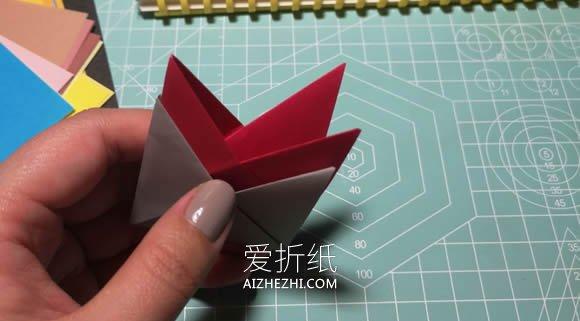 怎么简单折纸无限翻烟花的折法图解- www.aizhezhi.com