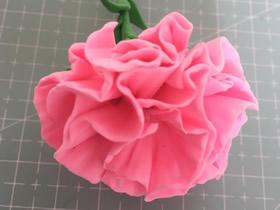 怎么做粘土康乃馨花的方法图解教程