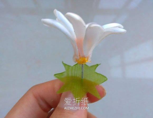 怎么做缎带烧花玛格丽特的方法教程- www.aizhezhi.com