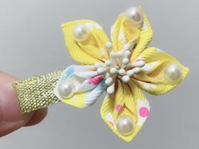 怎么做缎带花简单又可爱的教程