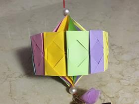 怎么用12张纸折纸灯笼的折法图解