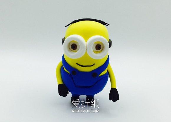 怎么用粘土做两个眼睛小黄人的方法图解- www.aizhezhi.com