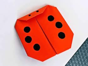 怎么简单折纸瓢虫的折法图解