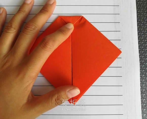 怎么简单折纸瓢虫的折法图解- www.aizhezhi.com