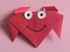 怎么简单折纸红色螃蟹的折法图解