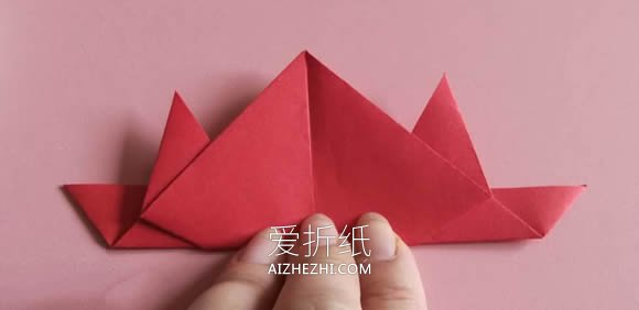 怎么简单折纸红色螃蟹的折法图解- www.aizhezhi.com