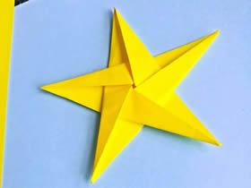 怎么用一张纸折五角星的折法步骤图解