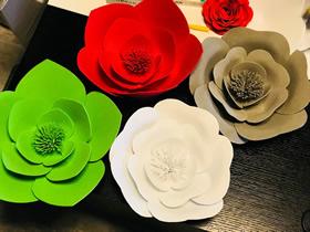 怎么用海绵纸做立体花朵的方法教程