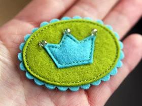 怎么用毡布做皇冠徽章的方法教程