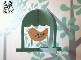 怎么用毡布做鸟笼挂饰的方法教程