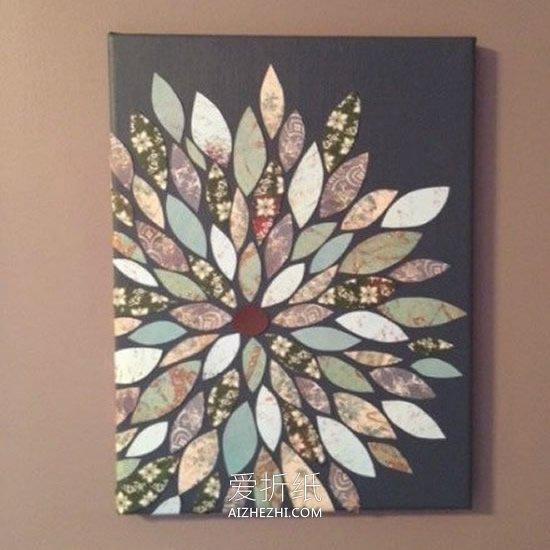 怎么用卡纸粘贴做漂亮装饰画的方法图解- www.aizhezhi.com