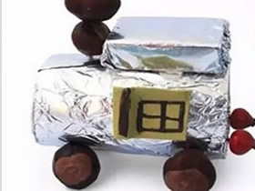 怎么用卷纸芯做儿童玩具小车的方法教程