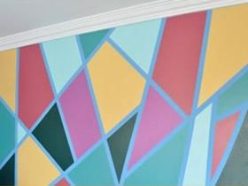 怎么用胶带做漂亮墙饰图案的方法