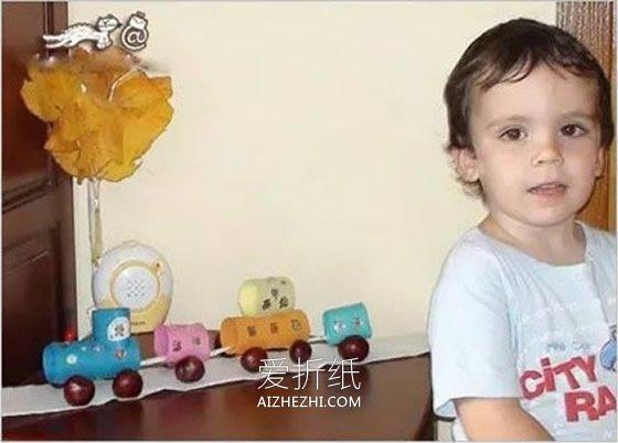 怎么用卷纸芯做儿童玩具小车的方法教程- www.aizhezhi.com