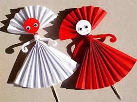 怎么用彩纸做木偶的方法超简单