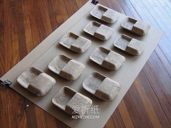 怎么用一次性餐盒做墙上置物架的方法图解- www.aizhezhi.com