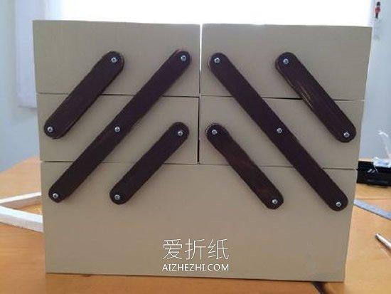 怎么用木板做可折叠收纳箱的方法图解- www.aizhezhi.com