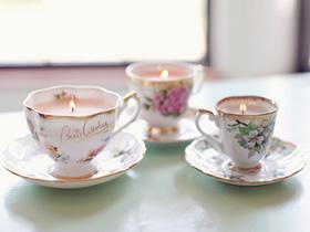 怎么用陶瓷杯做茶杯蜡烛装饰的简单方法