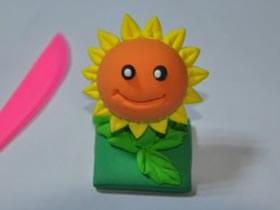 怎么用粘土做植物大战僵尸向日葵的方法