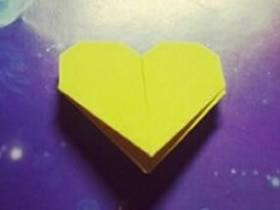 怎么折纸爱心书签的折法图解步骤