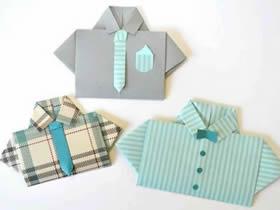 怎么折纸小衣服的折法过程图解