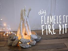 怎么用蕾丝做篝火装饰的方法教程