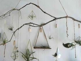 怎么用绳子编织花盆悬挂篮的方法图解教程