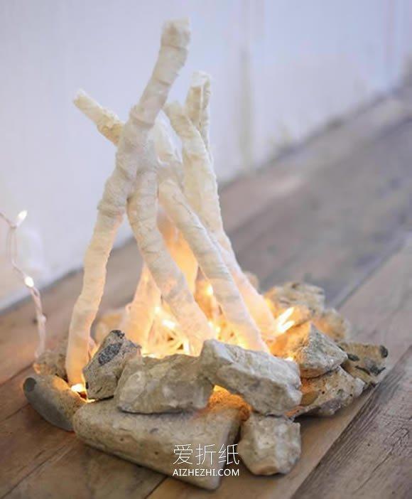 怎么用蕾丝做篝火装饰的方法教程- www.aizhezhi.com