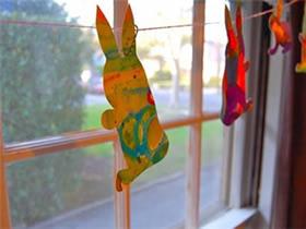 怎么做复活节水彩兔子装饰的方法教程