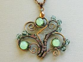 怎么用铜线做复古风经典项链吊坠的方法图解