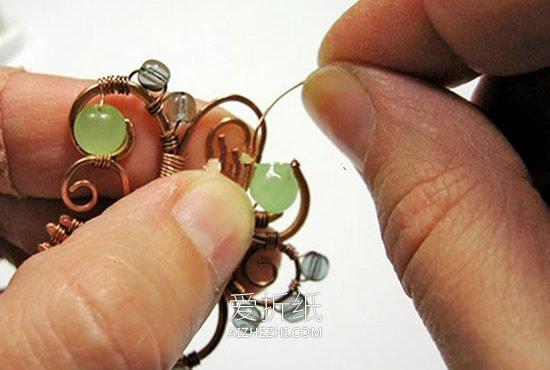 怎么用铜线做复古风经典项链吊坠的方法图解- www.aizhezhi.com