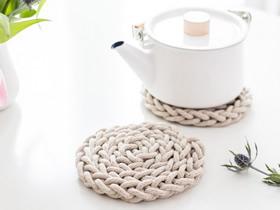 怎么用棉绳编织圆形杯垫餐垫的方法教程