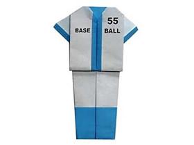 怎么折纸棒球服的折法简单步骤图解