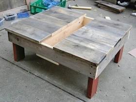 怎么用木板做桌形多肉花架的方法教程