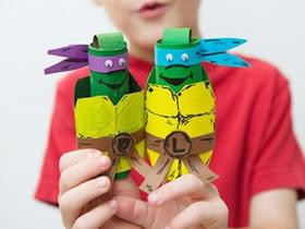 怎么用卷纸芯做忍者神龟手偶的方法教程