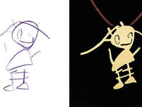 怎么将孩子涂鸦作品做项链吊坠的创意方法