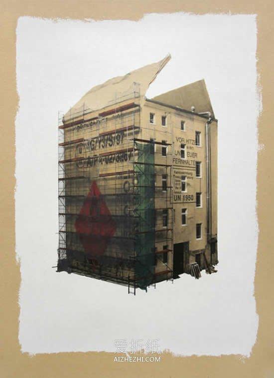 怎么用瓦楞纸板做逼真平面建筑物的创意图片- www.aizhezhi.com