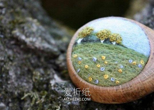 怎么做方寸之间的羊毛毡风景画的作品图片- www.aizhezhi.com