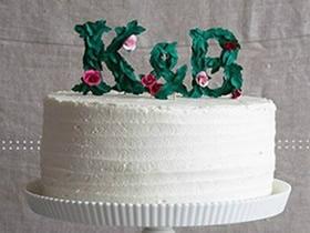 怎么用卡纸做婚礼蛋糕字母装饰的方法图解