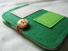 怎么用不织布做布艺卡包的方法图解
